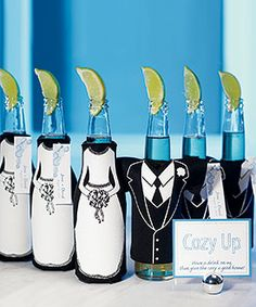 These would look really cute to give to our guest when they are given their drinks at the reception.Maybe even add our names and date to the Koozies. #weddingstar #contest