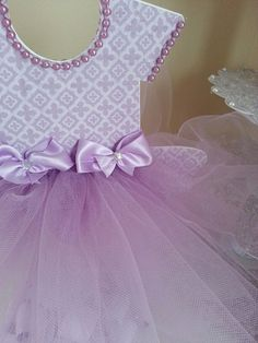 Double Sided Lavender TuTu Dress Centerpiece by TheCarriageShoppe