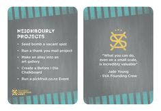 Project Ideas - Neighbourly projects.