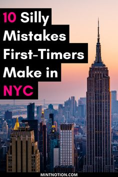 Visiting NYC for the first time? Avoid these common tourist mistakes