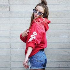 Erika Costell Red Goat Hoodie