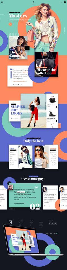 MV Fashion brand - UI/UX on Behance
