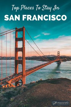 Where to stay when visiting San Francisco, California - the home of the Golden Gate Bridge. This San Fran guide highlights all of the top neighborhoods in the city along with the best hotels and accommodation in each area. Location is key in the bay area and where you stay will depend on what you want to do. For instance, stay in Fisherman's Wharf for the typical SF experience or stay in Haight-Ashbury for a funkier and quirkier side to the city. | Blog by the Planet D #California…