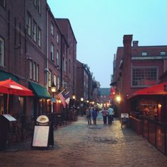 Cobble Stone Streets For A Feel Of Long Ago In Portland ME Moving To Maine
