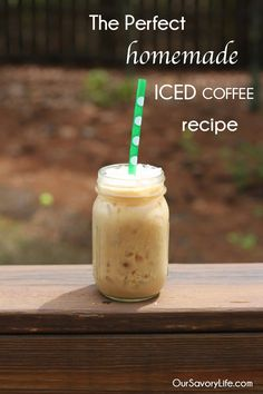 Perfect homemade iced coffee recipe. The best! So simple. Save on time and money. #icedcoffee #coffee