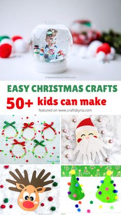 Here are more than 50 easy Christmas crafts for kids of all ages. Cute Christmas tree crafts, reindeer crafts,santa crafts, gingerbread man crafts, Christmas tree ornaments and many more ideas for toddlers, preschoolers, kindergarteners, teens and tweens. #craftsbyria Pretty Christmas Trees, Christmas Crafts For Kids, Simple Christmas, Diy Crafts For Kids, Christmas Tree Ornaments, Fun Crafts, Christmas Diy, Santa Crafts, Reindeer Craft