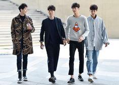 Cho Minho, Jang Kiyong, Byun Wooseok, and Lee Cheolwoo at Seoul Fashion Week S/S 2016, day 3