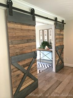Double barn doors / Puertas dobles look industrial