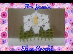 Barrado Flor em crochê # Elisa Crochê - YouTube