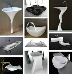These are some really cool Bathroom Sinks! @Hansgrohe USA  #bathroomdreams
