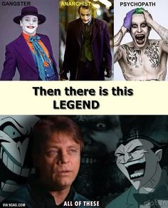 MARK HAMILL. The real voice of joker for over 20 years