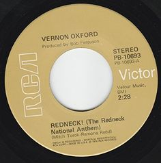 """45vinylrecord Redneck (The Redneck National Anthem)/Leave Me Alone With The Blues (7""""/45 rpm) RCA VICTOR http://www.amazon.com/dp/B00NT5N4WY/ref=cm_sw_r_pi_dp_m7KDvb05EERJ9"""