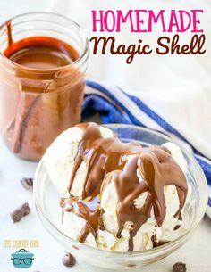 Homemade Chocolate Magic Shell recipe from The Country Cook #chocolate #icecream #recipe #recipes #easy #simple #magicshell #homemade