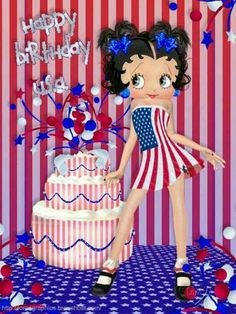 HAPPY BIRTHDAY...AMERICA...BETTY BOOP