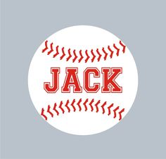 Baseball Personalized Name Custom Vinyl wall decals by canodesigns. $27.99, via Etsy.
