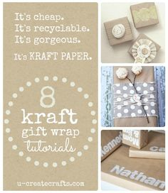 Kraft Gift Wrapping Tutorials