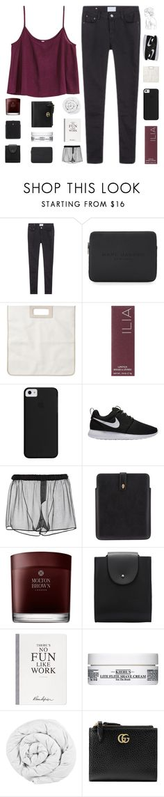 """but if you close your eyes"" by constellation-s ❤ liked on Polyvore featuring Marc Jacobs, Monki, Ilia, NIKE, N°21, Alexander McQueen, Molton Brown, Selfridges, Kiehl's and The Fine Bedding Company"