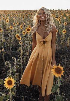 Naturally curly hair. Beach curls and sun dress