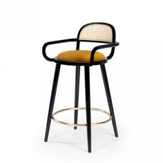 For Sale on - When it comes to Luc bar stool, the playing field is the cross-section where functional design and craftsmanship of the highest quality meet art. Chaise Diy, Upholstered Bar Stools, Ottoman Stool, Stool Chair, Swivel Chair, Designer Bar Stools, Scandinavian Dining Chairs, High Stool, Metal Chairs