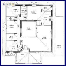 resultado de imagen para plan de maison carre avec patio interieur