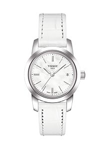 Women's Swiss Luxury quartz movement wrist watch from the Classic Dream Collection. Featuring a stainless steel case, with a white dial with index numerals, scratch-resistant sapphire crystal, and a white leather strap with a standard buckle. Dream Watches, Luxury Watches, Cool Watches, Watches For Men, Women's Watches, Female Watches, White Watches, Fossil Watches, Le Locle