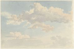 Wolken tegen blauwe lucht, Abraham Teerlink, 1786 - 1857