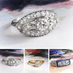 Where to Buy a Vintage Engagement Ring   Shop these 5 Etsy Sellers 💍