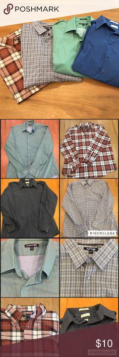 Men's Long Sleeve Button Shirts All XL. Not slim fit. $10.00 each. Shirts Dress Shirts