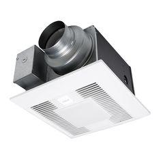Panasonic Whisper Green Select 50/80/110 CFM Ceiling Exhaust Bath Fan With  LED Light, Energy Star (Bathroom Fan) (Metal)