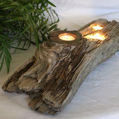 Driftwood centerpiece.  Maybe add a large lantern.