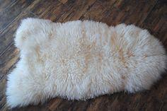 Genuine Real sheepskin, Lambskin, Rug, Blanket fur , Throw, Schaffell, Lammfell  #Luna