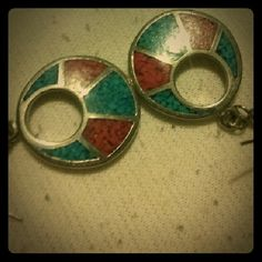 Earrings Gorgeous red & turquoise looking earrings. Style is like western, Aztec, or boho.   Can be bundled with any other item(s) In my closet Jewelry