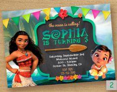 Moana Invitation Moana Party Invitation Moana por LythiumArt