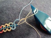 Beads in SCMR with a lock join closing of ring - by Sharren Random Stitches
