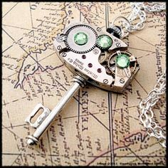 I love funky jewelery. This is a steampunk style key pendent necklace from Etsy. by alexandra