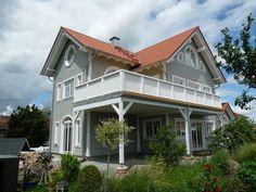 Unser Holzhaus Mariestad  gebaut im amerikanischen Stil der Südstaaten