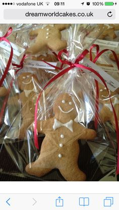 Gingerbread Men Favours As Made By Dreamworld Cakes