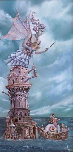 """Magical Realism"" artworks by Tomek Setowski"