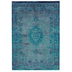 alfombra de color turquesa de algodón de estilo decadente