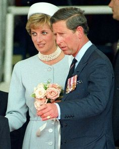 07 May 1995: The Prince and Princess of Wales attend the Heads of State VE Remembrance Service in Hyde Park, London.