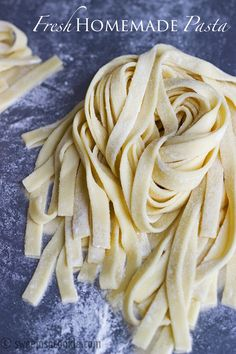 Fresh Homemade Pasta | It's easier to make than one would think via sweetasacookie.com