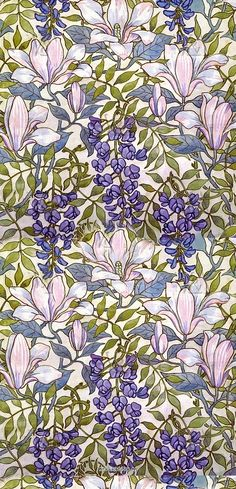 Magnolia Wallpaper, by Lewis Foreman Day. England, 1891