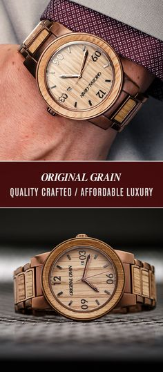 Give him a truly original gift this summer! Our Whiskey Barrel watch is made from steel & reclaimed All-American Kentucky bourbon barrels. No two watches are the same. Free shipping worldwide!
