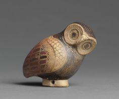 Corinthian Aryballos in the Shape of an OwlCirca 640 BC Greece
