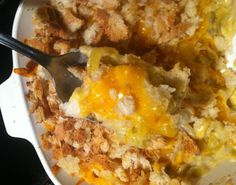 Mrs. Murphy's Squash Casserole has legendary status.  Some children don't think they like squash, but they will eat this casserole every time. Easy and inexpensive to make, big on taste!