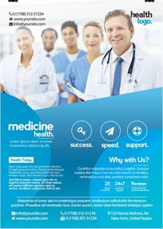 Health Care Flyer Template Free Lovely Creative Business and Medicine Health are Free Psd Flyer Template to Free Psd Flyer Templates, Brochure Template, Flyer Free, Medical Brochure, Medical Health Care, Medical Posters, Health Fair, Branding, Health Logo