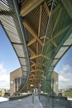 Wikinson Eyre Architects, University of Exeter: Forum Project, Exter, Regno Unito, 2012 A As Architecture, Education Architecture, Contemporary Architecture, Contemporary Design, Commercial Architecture, Zaha Hadid, Green Corridor, Art Nouveau, Architect Magazine