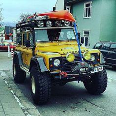 Land Rover Defender 110 Yellow prepared.