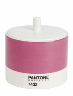 Pantone Universe China Sugar Pot Bowl with Lid Raspberry Crush Pink 7432 Boxed