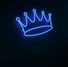 Crown Blue Neon Sign Lamp Light With Dimmer Acrylic Beer Bar Blue Aesthetic Grunge, Dark Purple Aesthetic, Blue Aesthetic Pastel, Aesthetic Light, Neon Light Wallpaper, Wallpaper Iphone Neon, Iphone Wallpaper Tumblr Aesthetic, Neon Bleu, Neon Azul